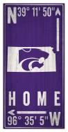 """Kansas State Wildcats 6"""" x 12"""" Coordinates Sign"""