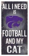 "Kansas State Wildcats 6"" x 12"" Football & My Cat Sign"