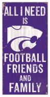 """Kansas State Wildcats 6"""" x 12"""" Friends & Family Sign"""