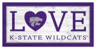 "Kansas State Wildcats 6"" x 12"" Love Sign"