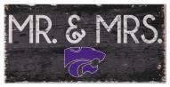 "Kansas State Wildcats 6"" x 12"" Mr. & Mrs. Sign"