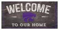 """Kansas State Wildcats 6"""" x 12"""" Welcome Sign"""