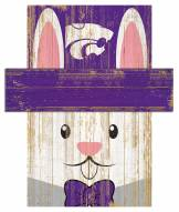 """Kansas State Wildcats 6"""" x 5"""" Easter Bunny Head"""
