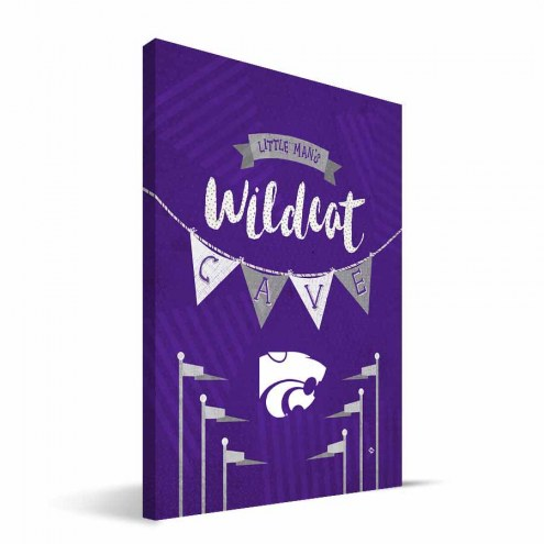 "Kansas State Wildcats 8"" x 12"" Little Man Canvas Print"