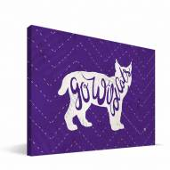 "Kansas State Wildcats 8"" x 12"" Mascot Canvas Print"