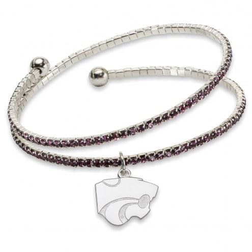 Kansas State Wildcats Amped Logo Crystal Bracelet