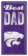 Kansas State Wildcats Best Dad Sign
