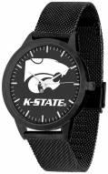Kansas State Wildcats Black Dial Mesh Statement Watch