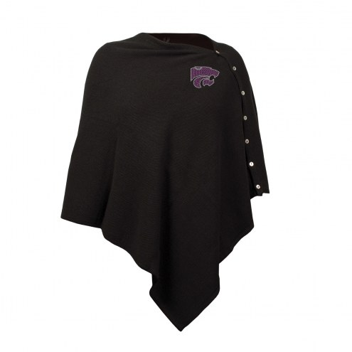 Kansas State Wildcats Black Out Button Poncho