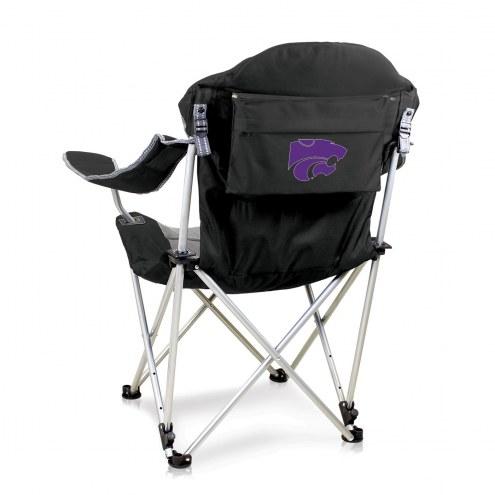 Kansas State Wildcats Black Reclining Camp Chair