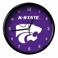 Kansas State Wildcats Black Rim Clock