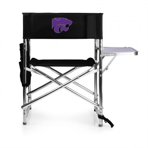 Kansas State Wildcats Black Sports Folding Chair