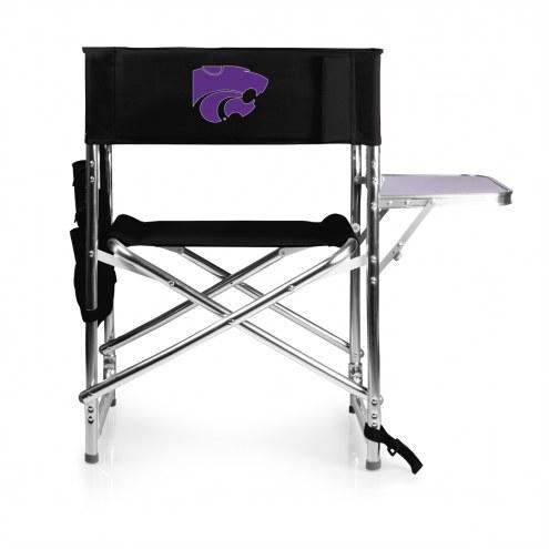 Kansas State Wildcats Black Sports Folding Chair