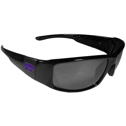 Kansas State Wildcats Black Wrap Sunglasses