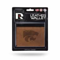 Kansas State Wildcats Brown Leather Trifold Wallet