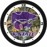 Kansas State Wildcats Camo Wall Clock