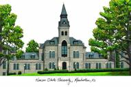 Kansas State Wildcats Campus Images Lithograph