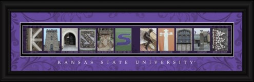 Kansas State Wildcats Campus Letter Art