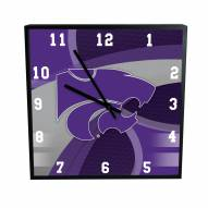 Kansas State Wildcats Carbon Fiber Square Clock