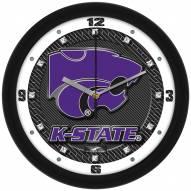 Kansas State Wildcats Carbon Fiber Wall Clock