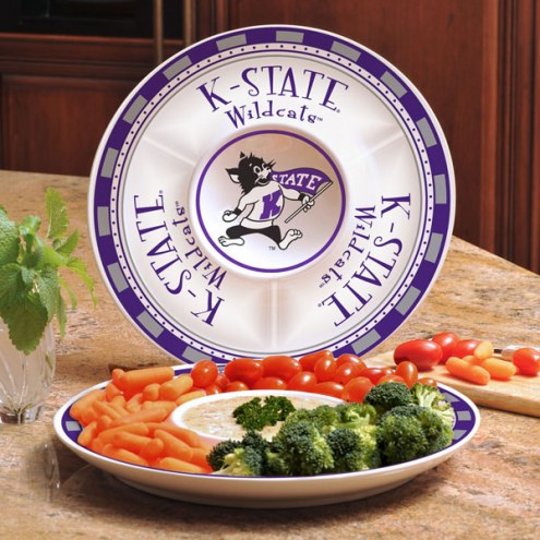 Kansas State Wildcats Ceramic Chip and Dip Serving Dish