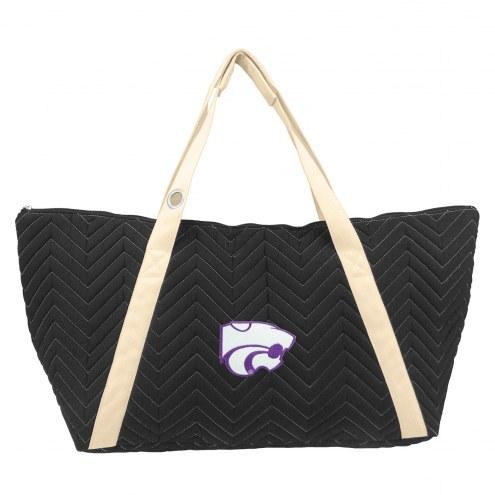 Kansas State Wildcats Chevron Stitch Weekender Bag
