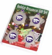 Kansas State Wildcats Christmas Ornament Gift Set
