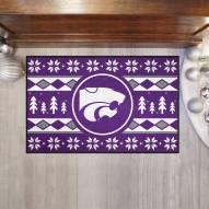Kansas State Wildcats Christmas Sweater Starter Rug