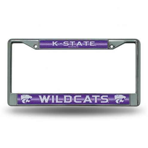 Kansas State Wildcats Chrome Glitter License Plate Frame