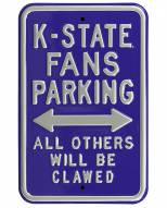 Kansas State Wildcats Clawed Parking Sign