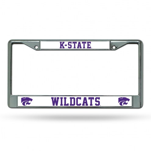 Kansas State Wildcats College Chrome License Plate Frame