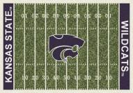 Kansas State Wildcats College Home Field Area Rug
