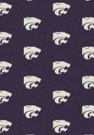 Kansas State Wildcats College Repeat Area Rug