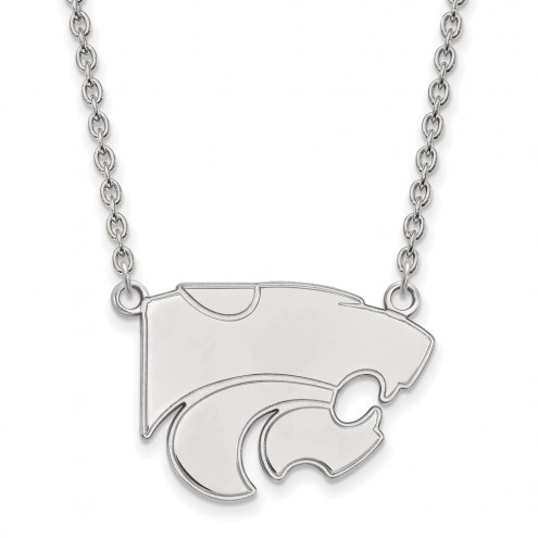 Kansas State Wildcats Sterling Silver Large Pendant Necklace