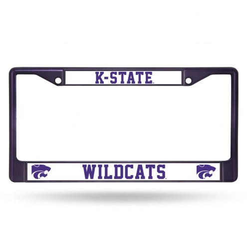 Kansas State Wildcats Colored Chrome License Plate Frame