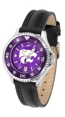 Kansas State Wildcats Competitor AnoChrome Women's Watch - Color Bezel