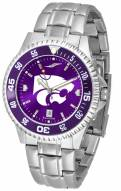 Kansas State Wildcats Competitor Steel AnoChrome Color Bezel Men's Watch