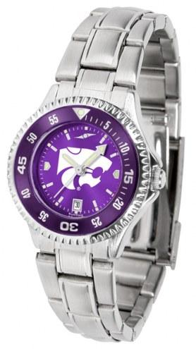 Kansas State Wildcats Competitor Steel AnoChrome Women's Watch - Color Bezel