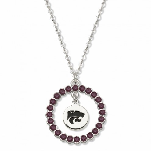 Kansas State Wildcats Crystal Wreath Logo Necklace