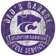 Kansas State Wildcats Dad's Garage Sign