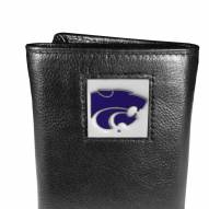 Kansas State Wildcats Deluxe Leather Tri-fold Wallet in Gift Box