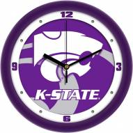 Kansas State Wildcats Dimension Wall Clock
