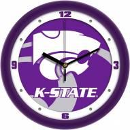 Kansas State Wildcats Dimension Wall Clock