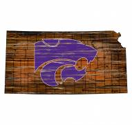 Kansas State Wildcats Distressed State with Logo Sign