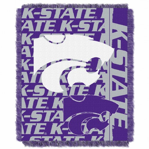 Kansas State Wildcats Double Play Woven Throw Blanket