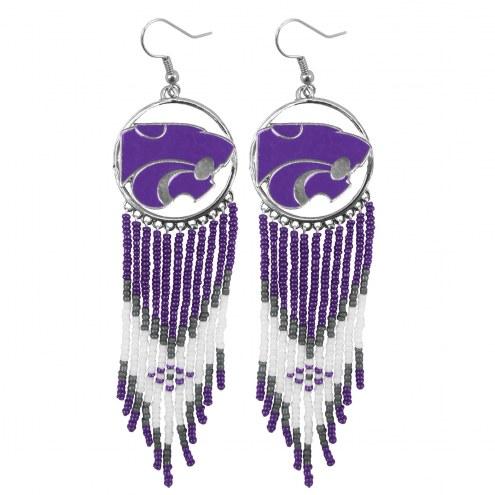 Kansas State Wildcats Dreamcatcher Earrings