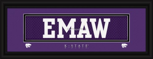 """Kansas State Wildcats """"Emaw"""" Stitched Jersey Framed Print"""