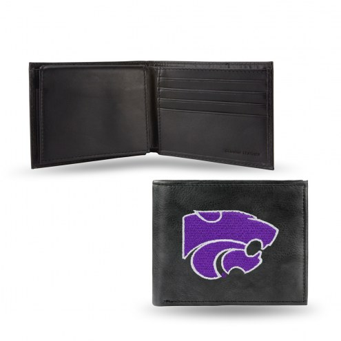 Kansas State Wildcats Embroidered Leather Billfold Wallet