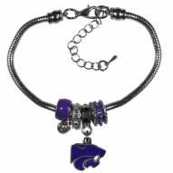 Kansas State Wildcats Euro Bead Bracelet