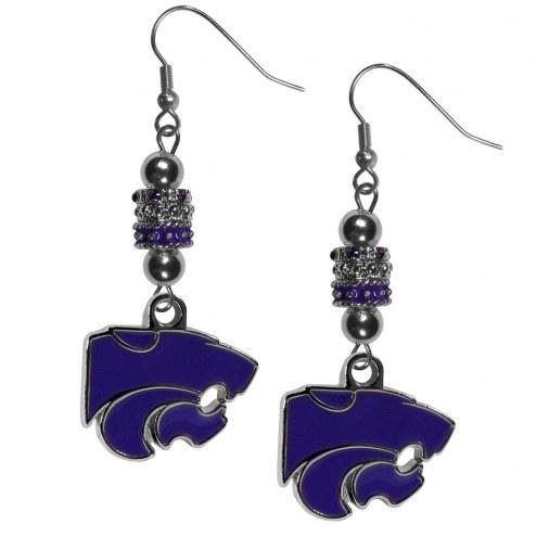 Kansas State Wildcats Euro Bead Earrings